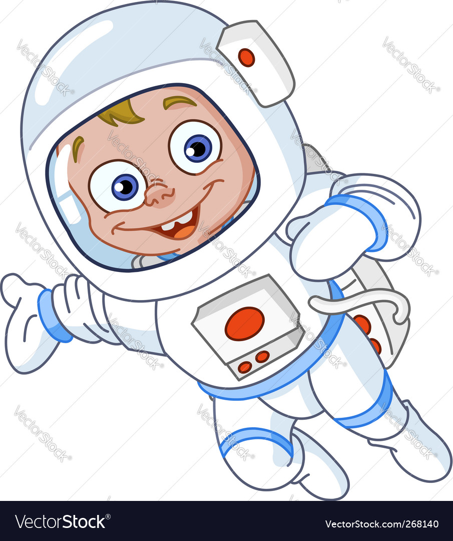 Young astronaut vector image