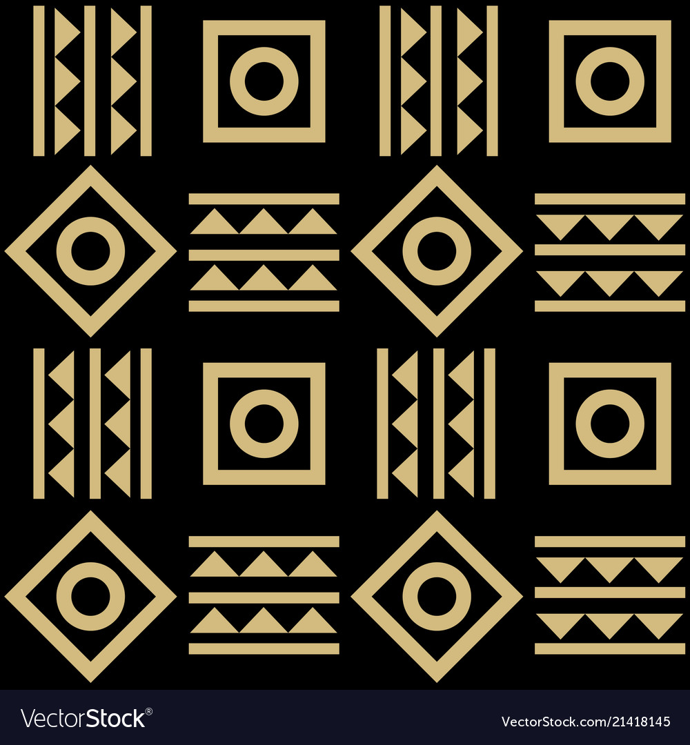 Abstract geometric tribal mexican style seamless