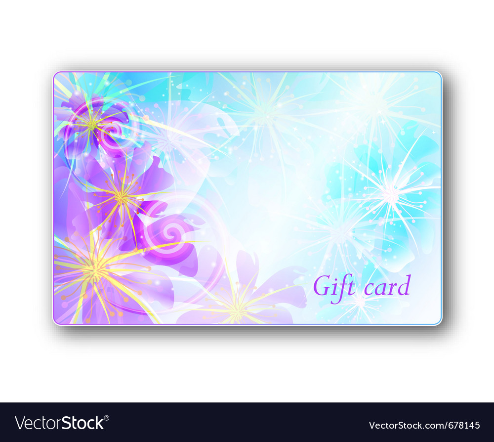 Gift Card Background Royalty Free Vector Image