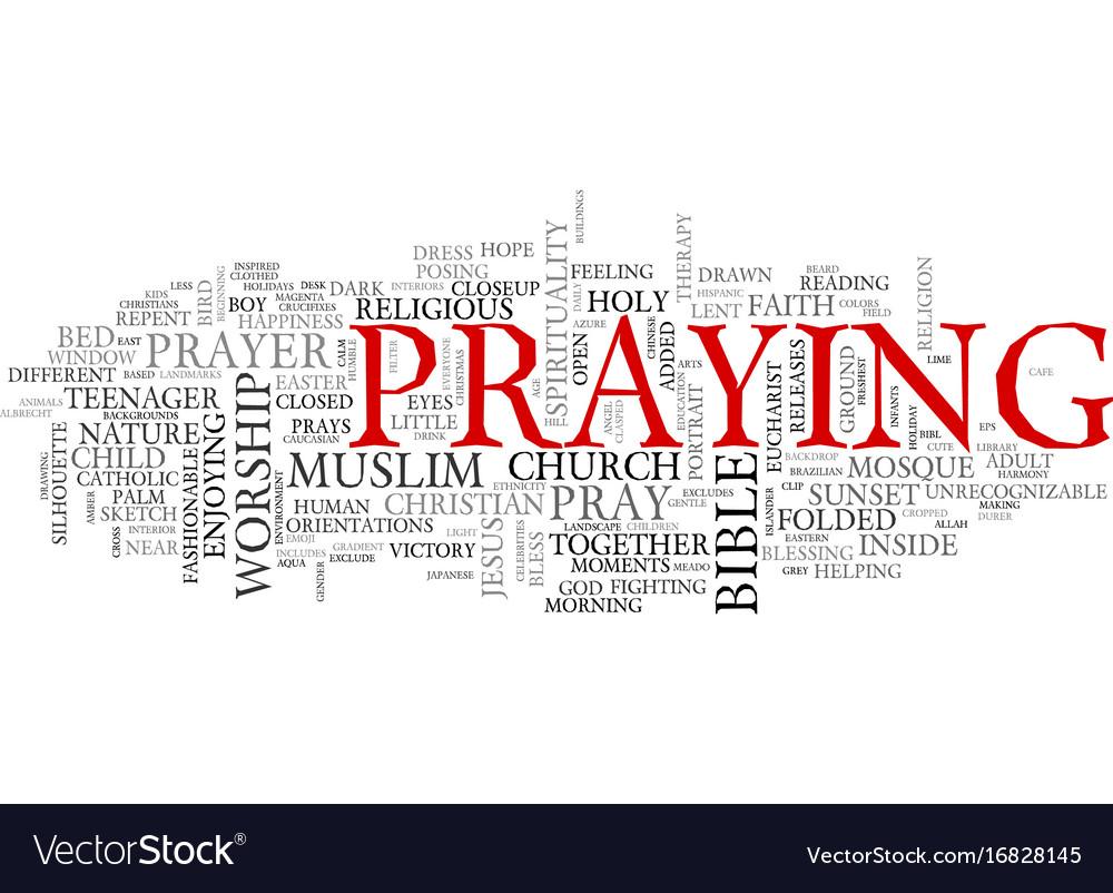 Pray word cloud concept