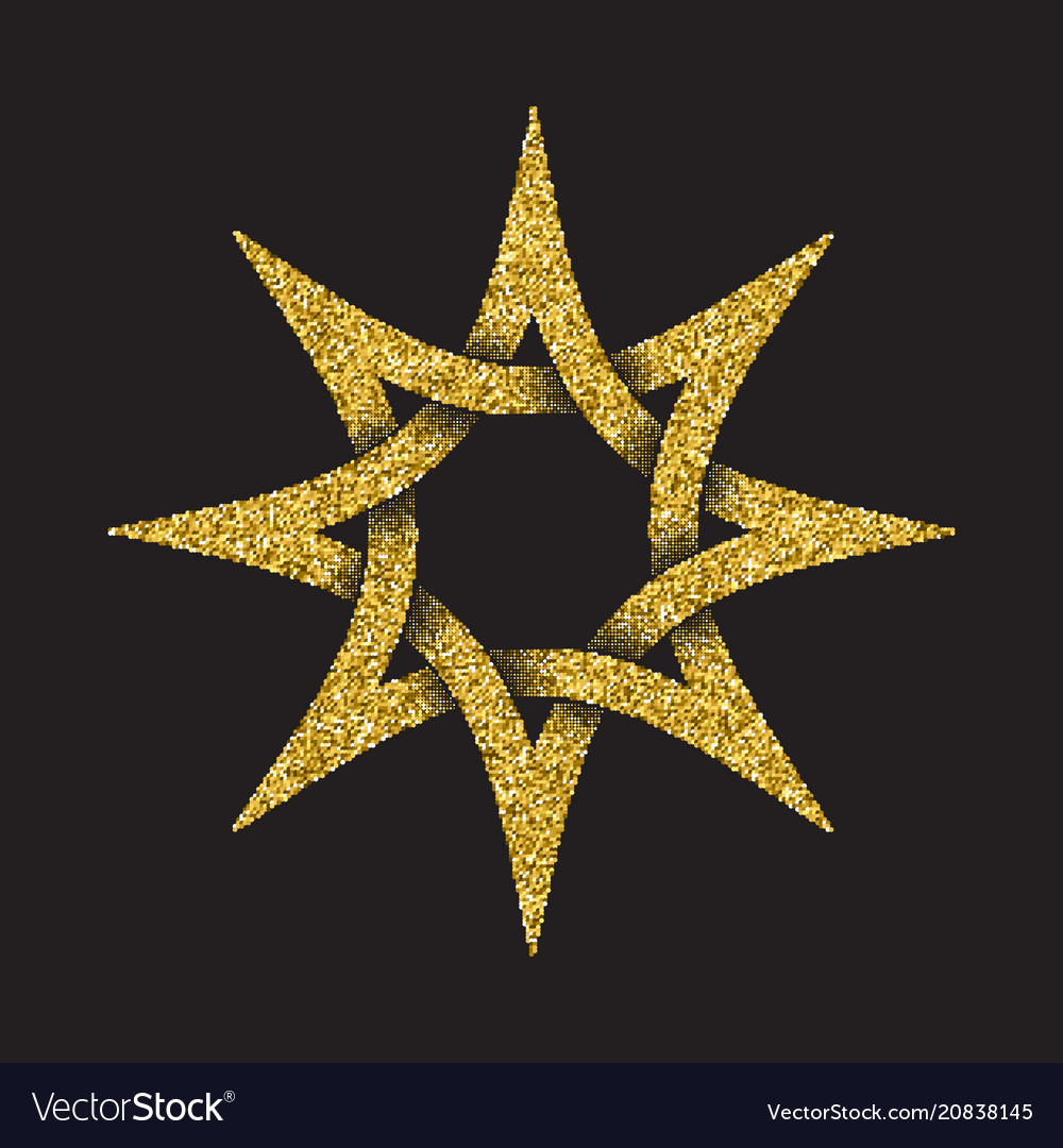 Tribal symbol in eight pointed star form