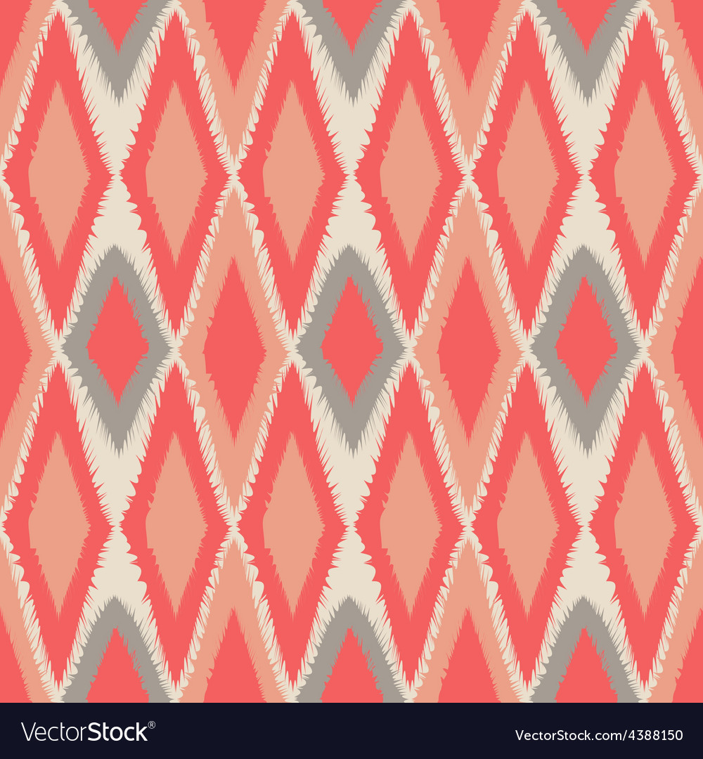 Abstract tribal art ethnic seamless Ikat pattern