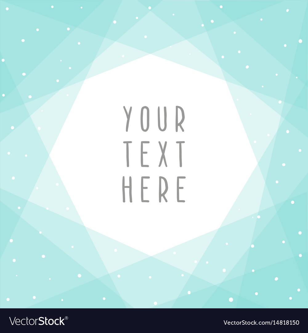 Beautiful blue abstract card template
