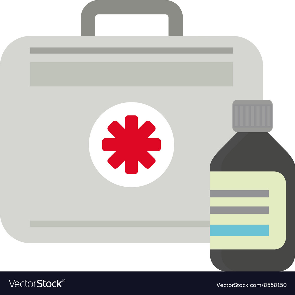 First aid kit box medical
