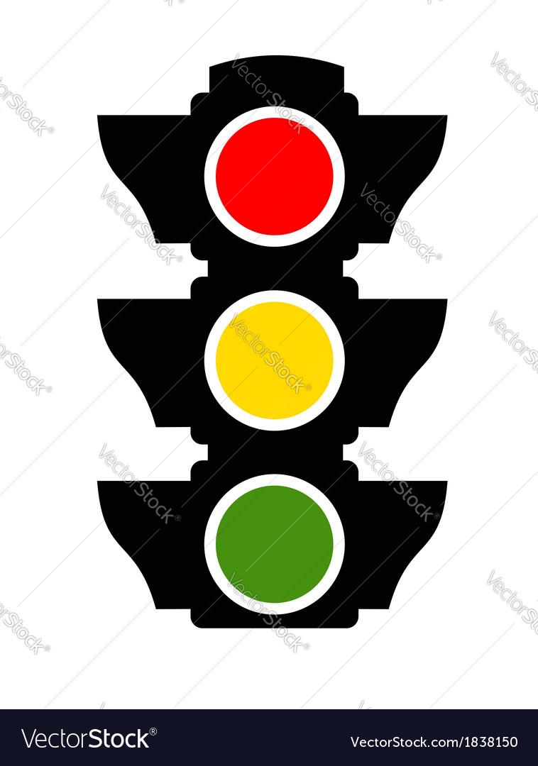 traffic light icon royalty free vector image vectorstock