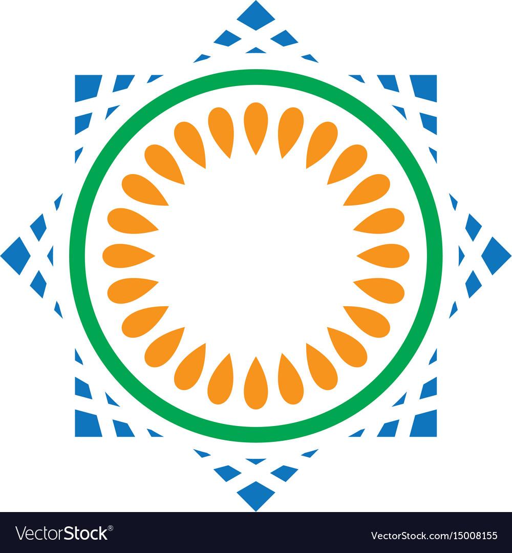 Abstract circle mosaic logo image