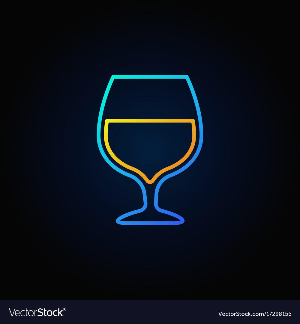 Cognac glass blue icon