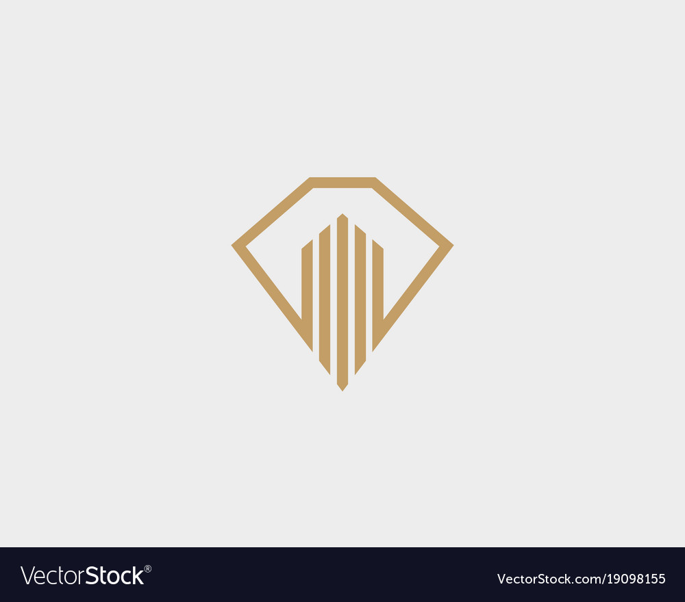 Diamond real estate logo design luxury home Vector Image