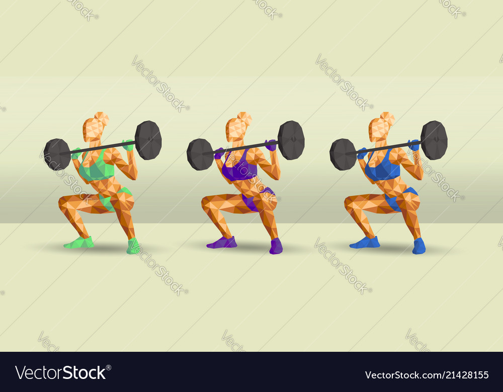 Female in gym doing squats new