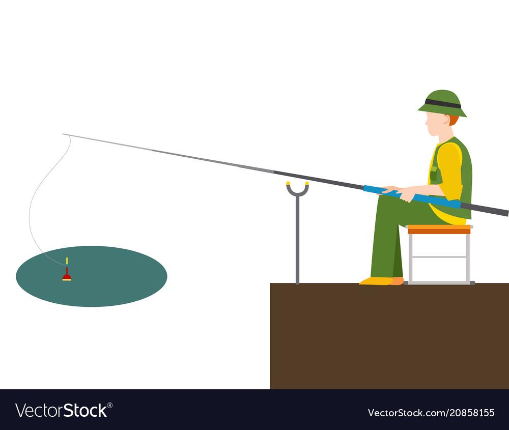 Fishing fishermen catches fish fisher threw