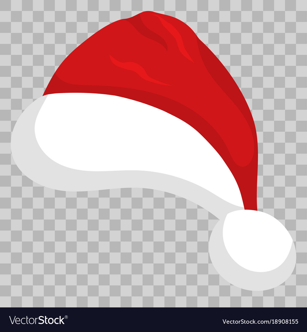 Santa hat on transparent background