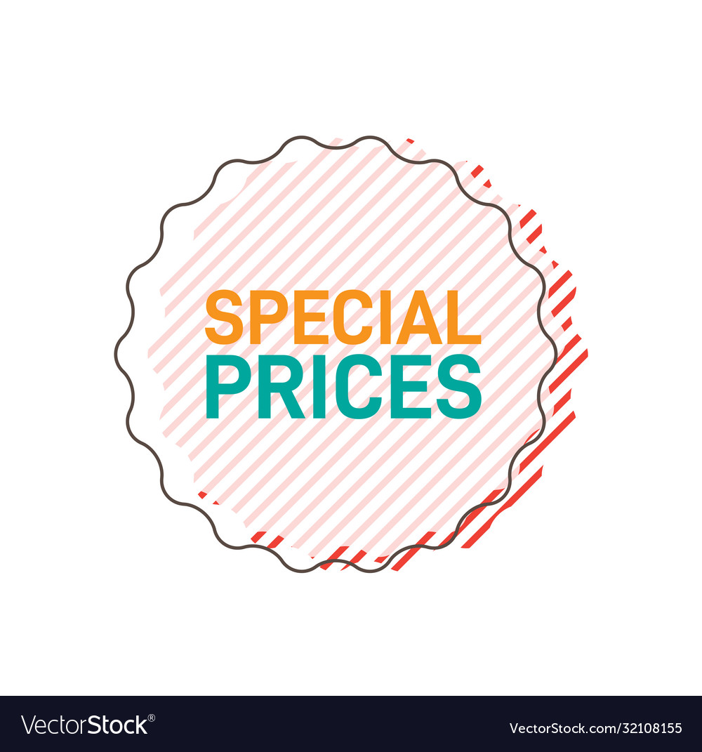 Special prices sticker design for online shopping