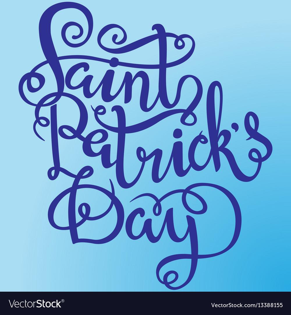 St patricks day lettering design element for