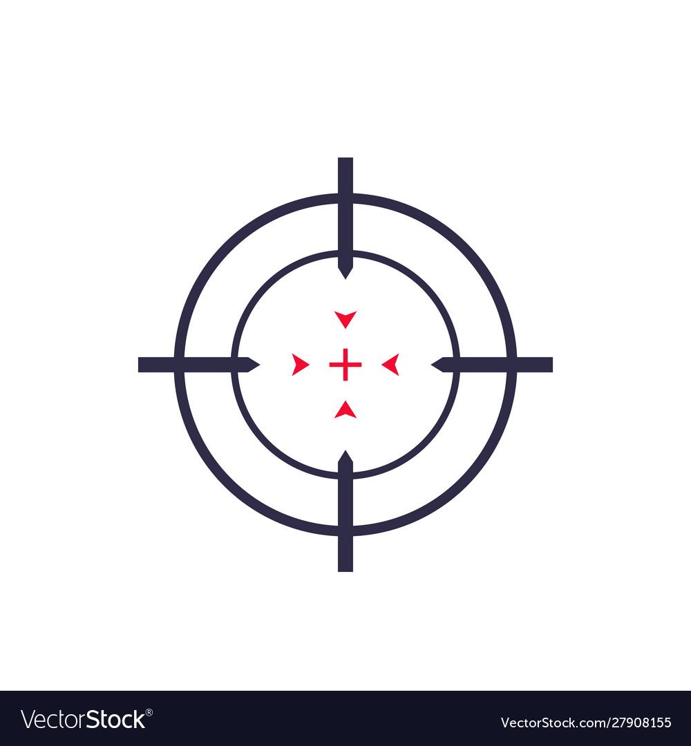 Target aim crosshair icon