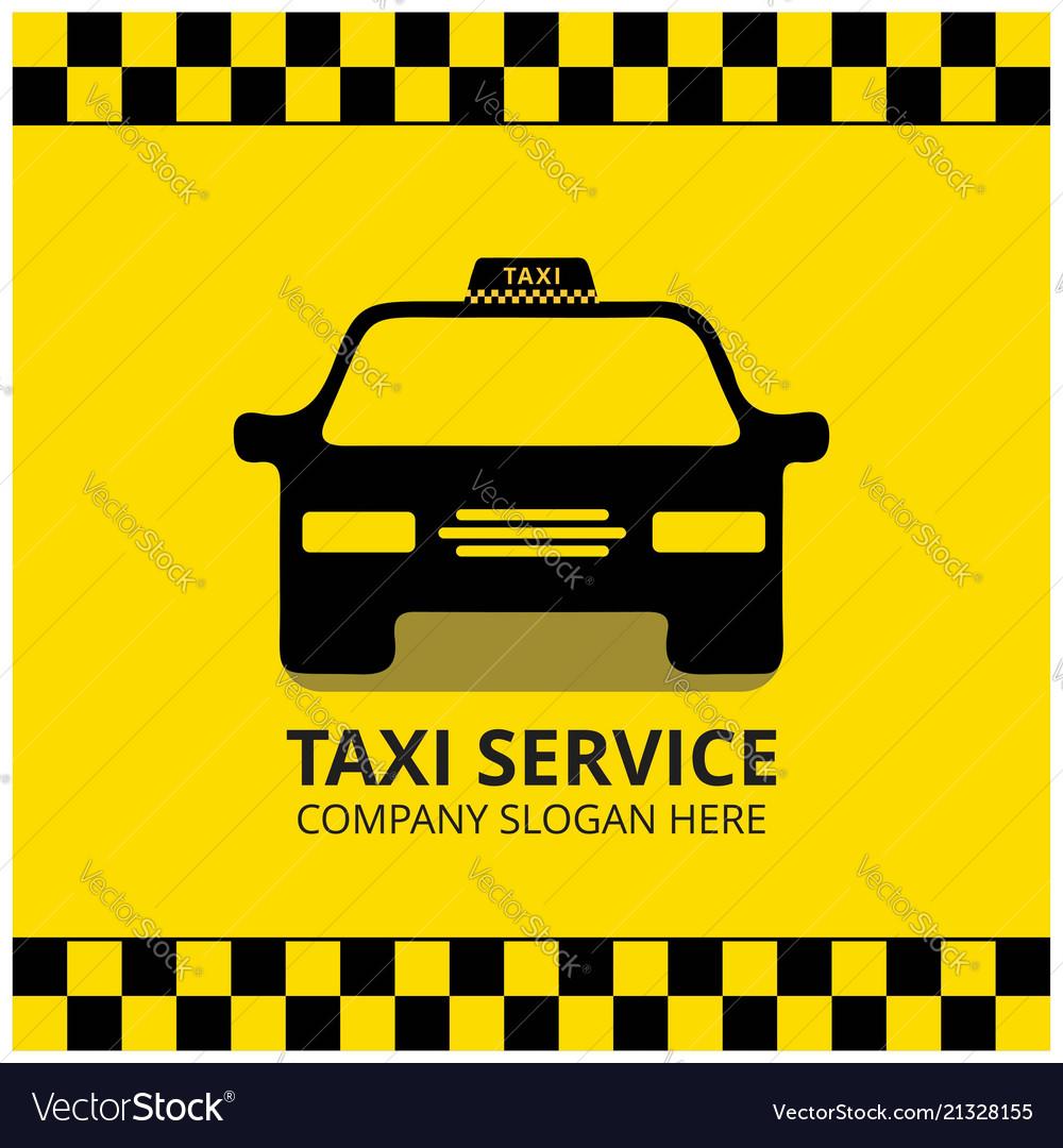 Taxi icon taxi service black taxi car yellow