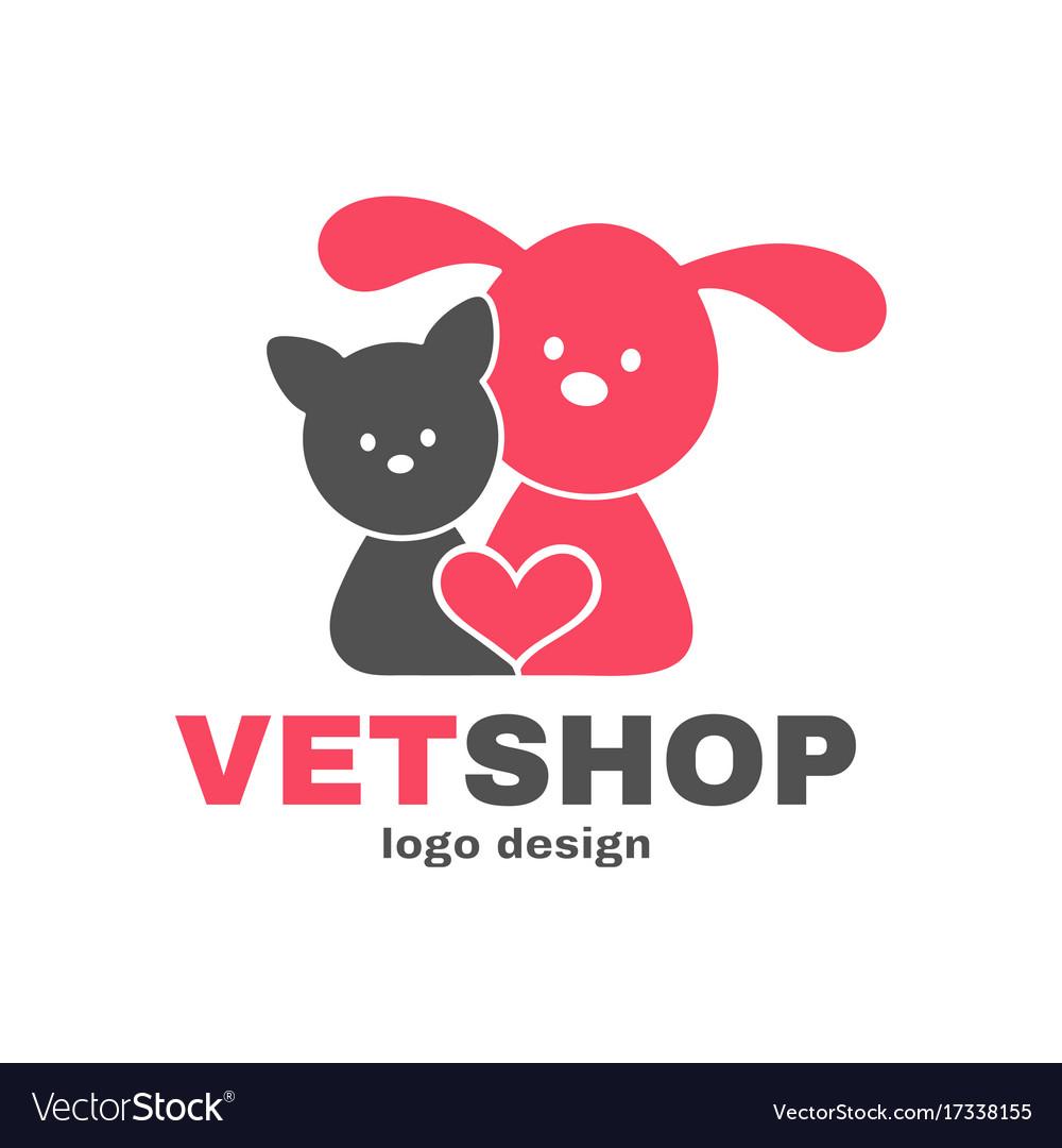 Vetshop logo design templete vet shop