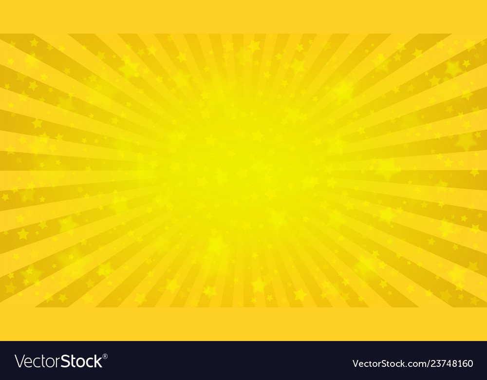 Bright yellow starry background