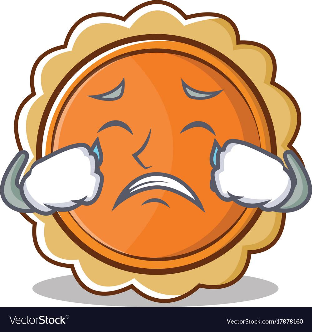 crying pumpkin pie character cartoon royalty free vector rh vectorstock com cartoon how pumpkin pies are made cartoon how pumpkin pie is made