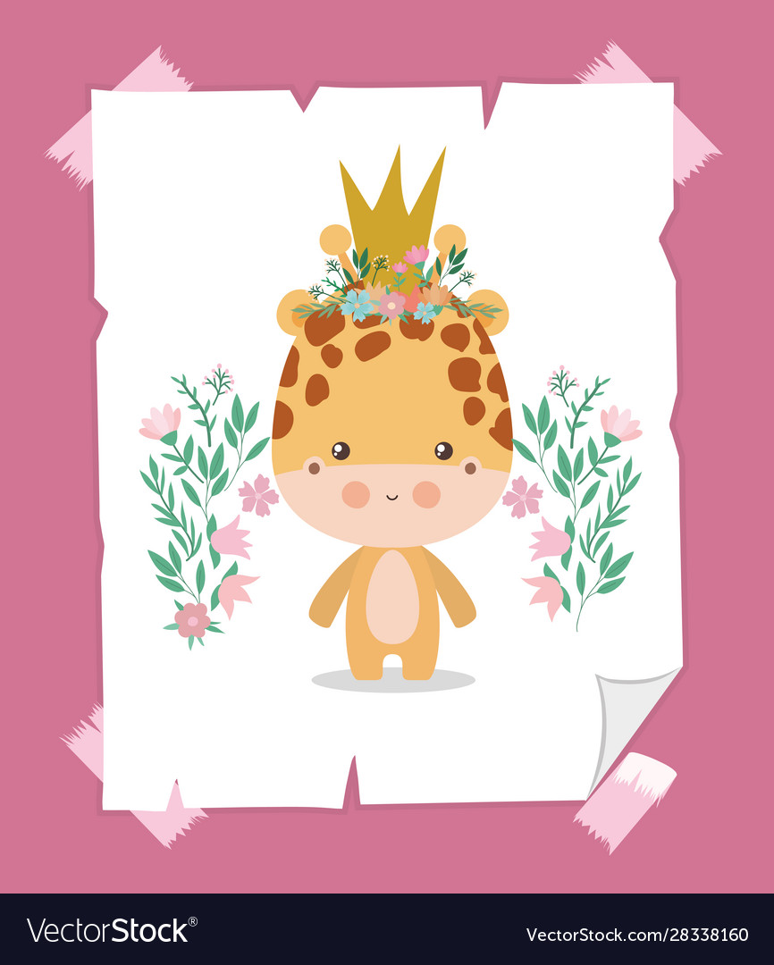 Cute Giraffe Cartoon With Crown Design Royalty Free Vector Download this cartoon yellow crown illustration, yellow crown, beautiful crown, beauty headdress png clipart image with transparent background or psd file for free. cute giraffe cartoon with crown design royalty free vector