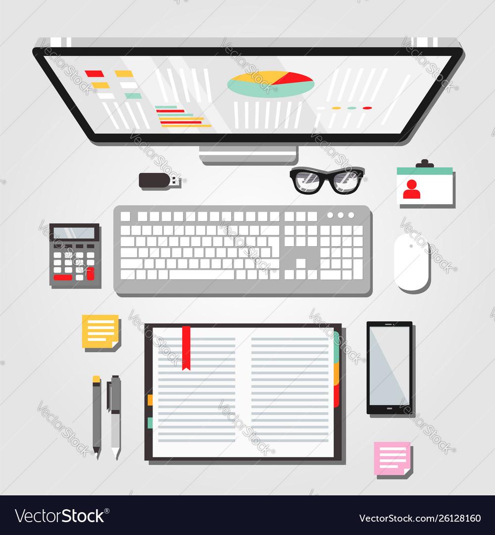 Desktop workspace graphic