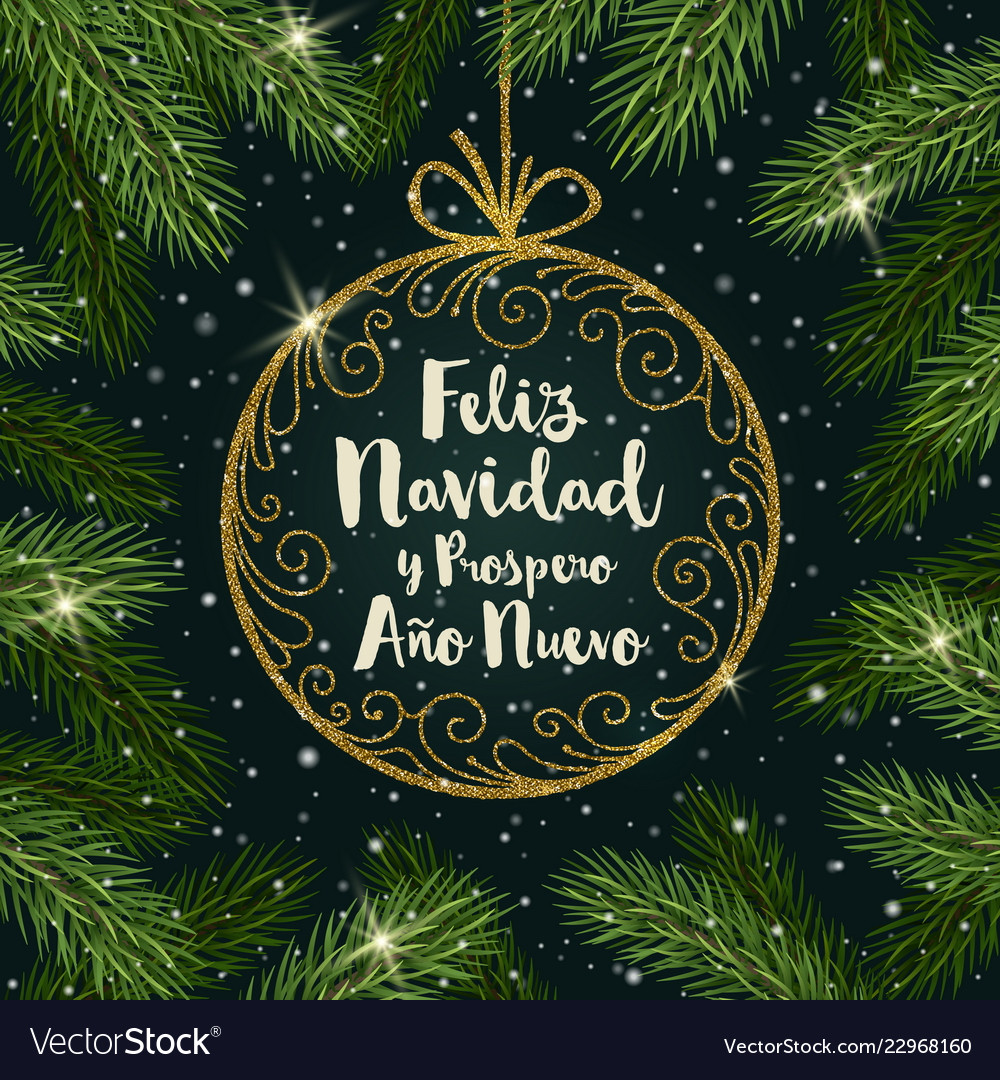 Christmas Spanish.Feliz Navidad Christmas Greetings In Spanish