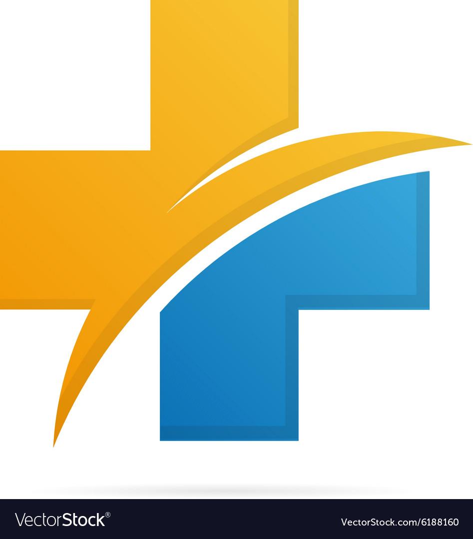 Hospital and medica logo vector image