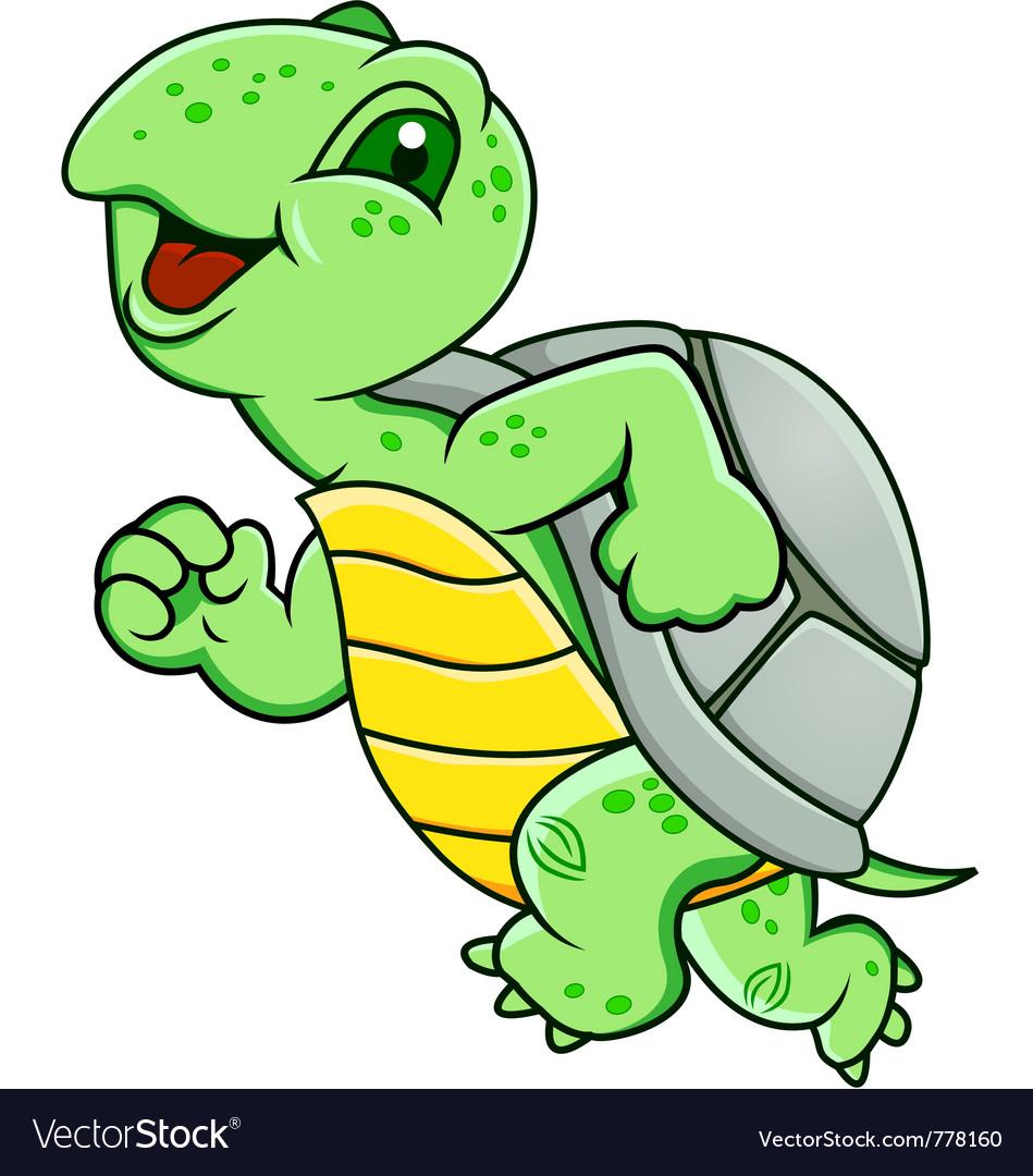 Running turtle Royalty Free Vector Image - VectorStock
