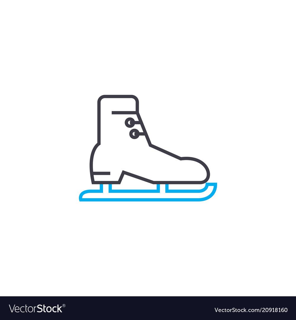 Skating linear icon concept skating line