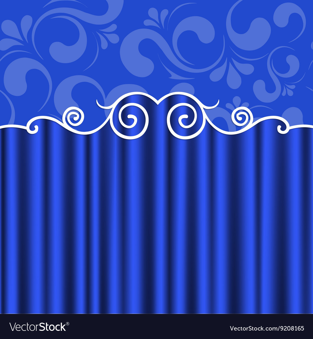 Background blue theater curtains Royalty Free Vector Image