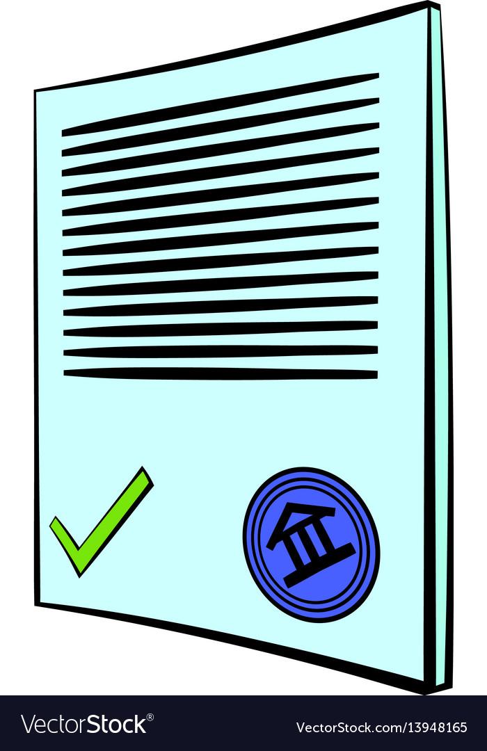 Document icon cartoon
