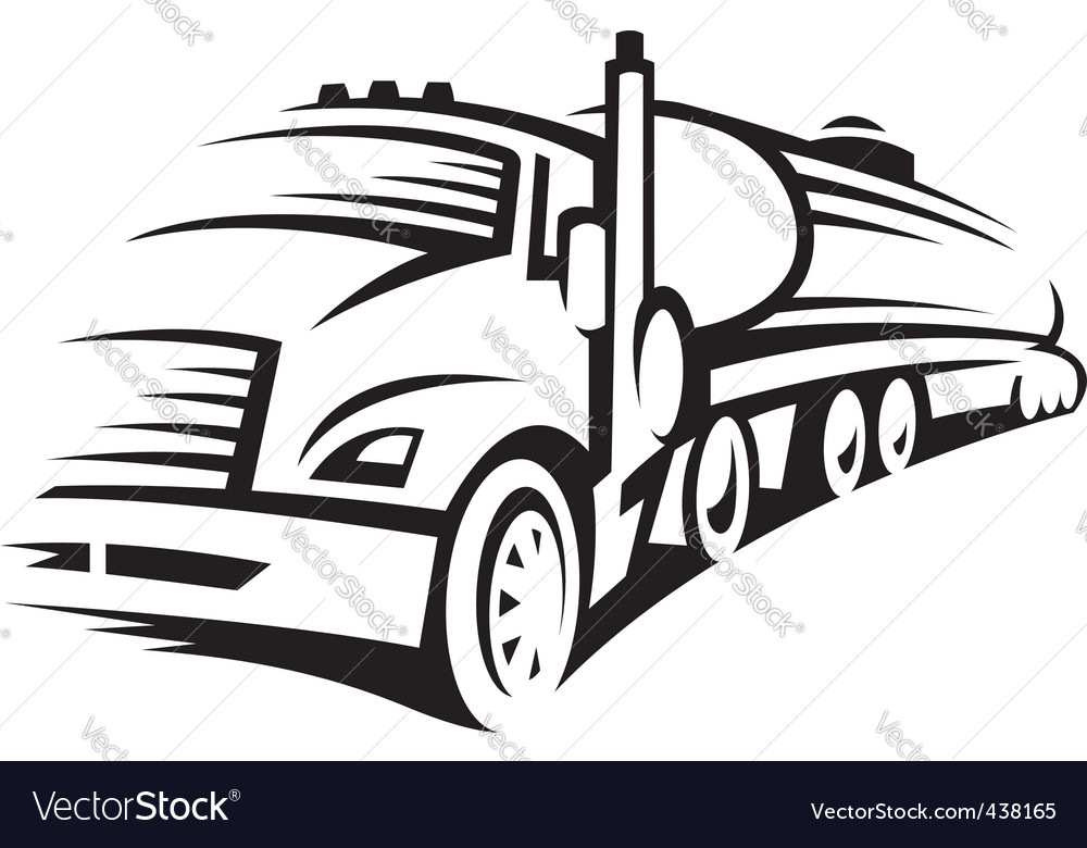 Fuel truck vector image