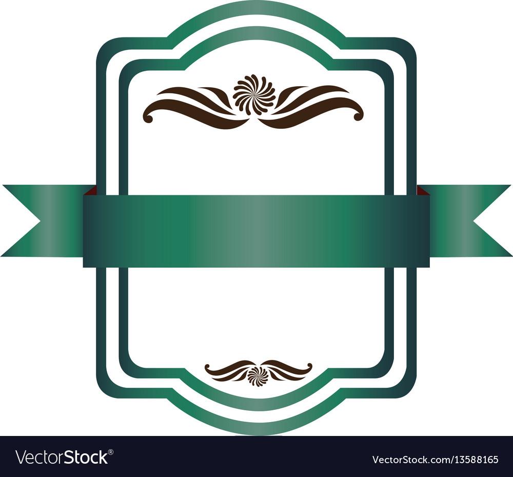 Green square emblem icon