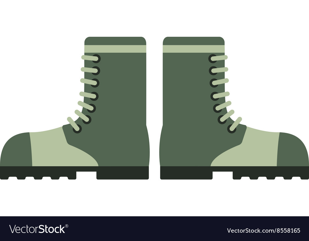 Old military boots leather combat soldier footwear