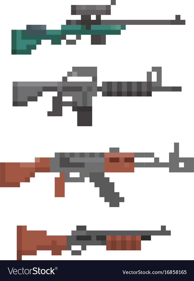 Pixel firearm game