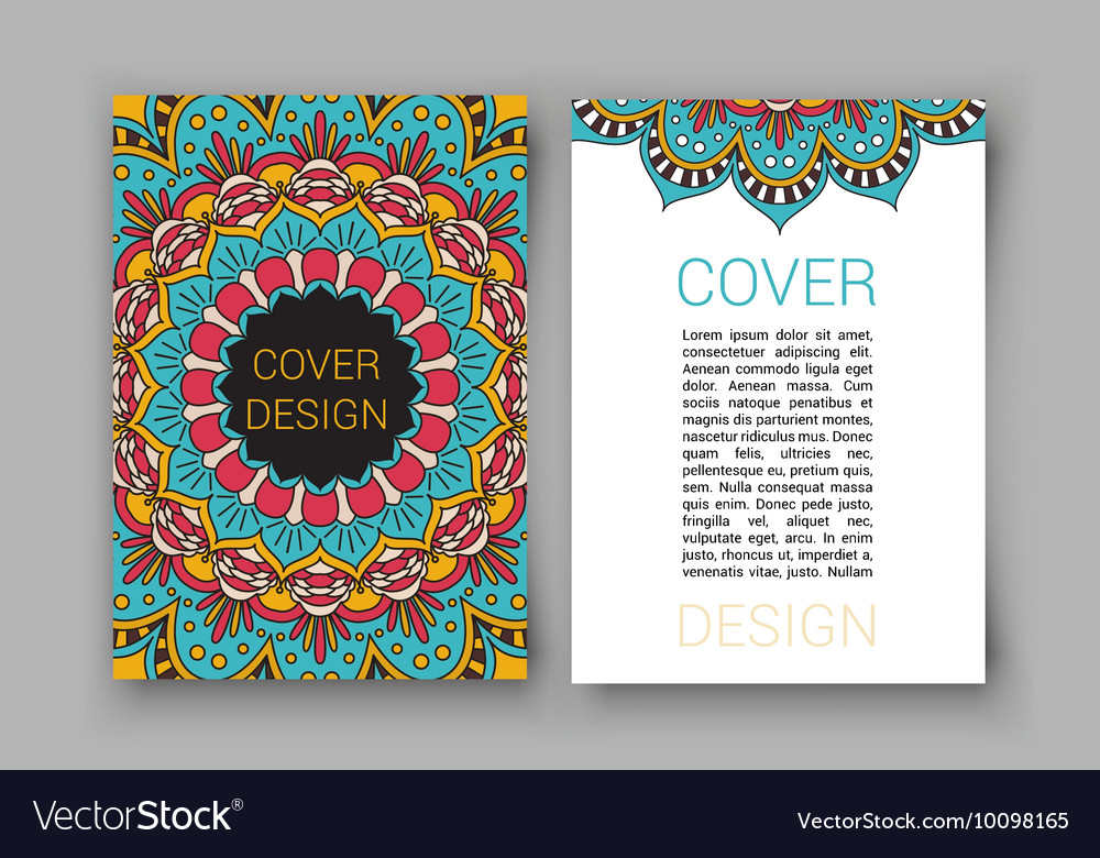 Ramadan brochure pages ornament