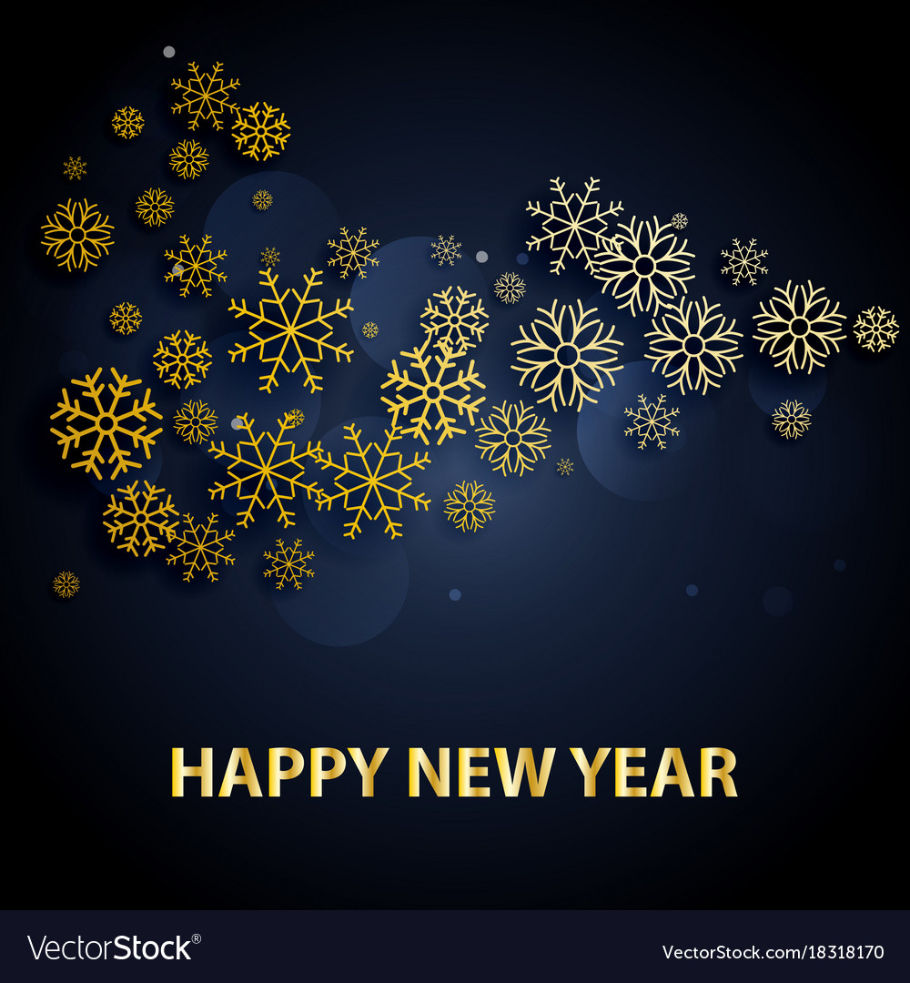 2018 happy new year background with golden letters vector image