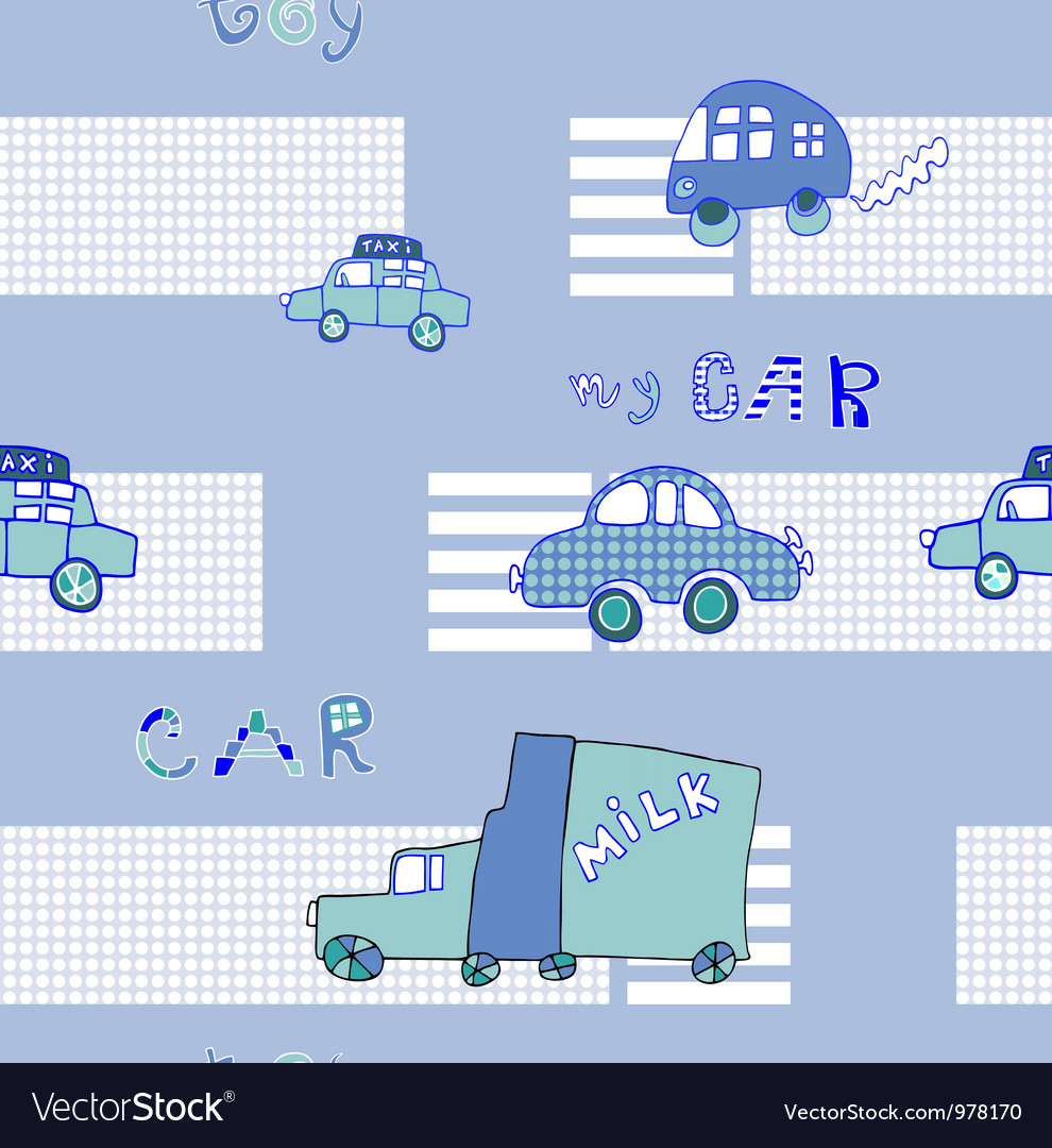 Abstract background seamless baby cars