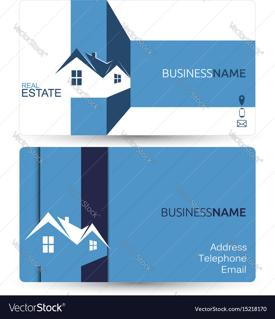 Real estate business card vector 1 clip art vector site business card for real estate royalty free vector image rh vectorstock com unique real estate business cards modern real estate business cards reheart Image collections