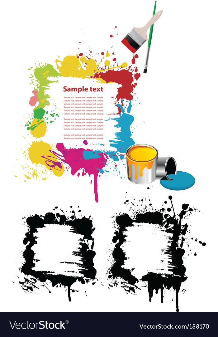 Grunge paint splatter