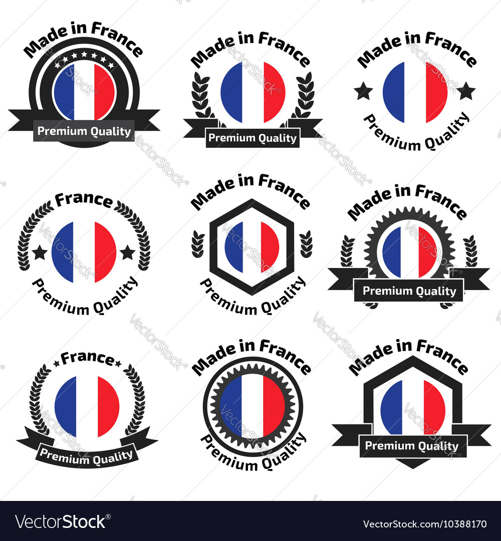 Made in Fance badge set