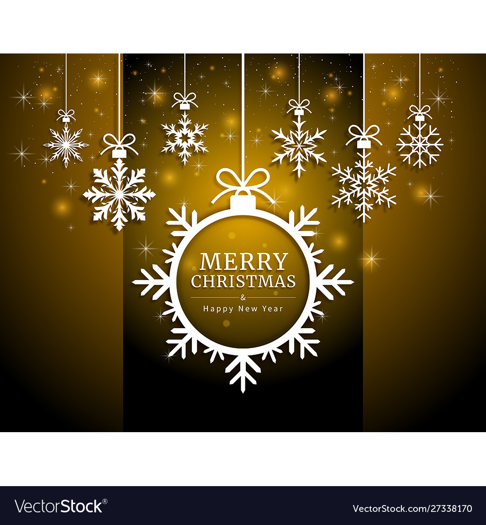 Merry christmas and happy new year card paper cut