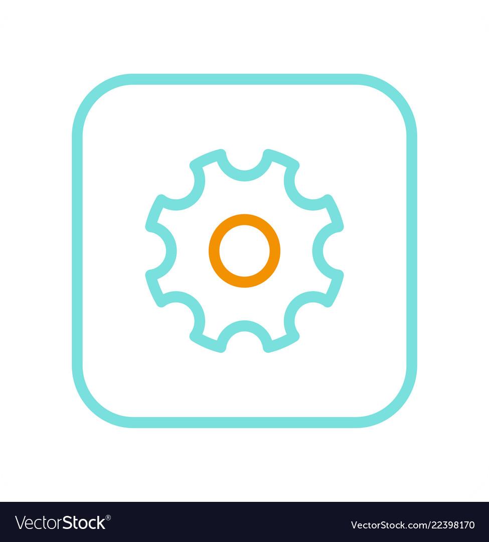 Settings logo isolated on white mockup