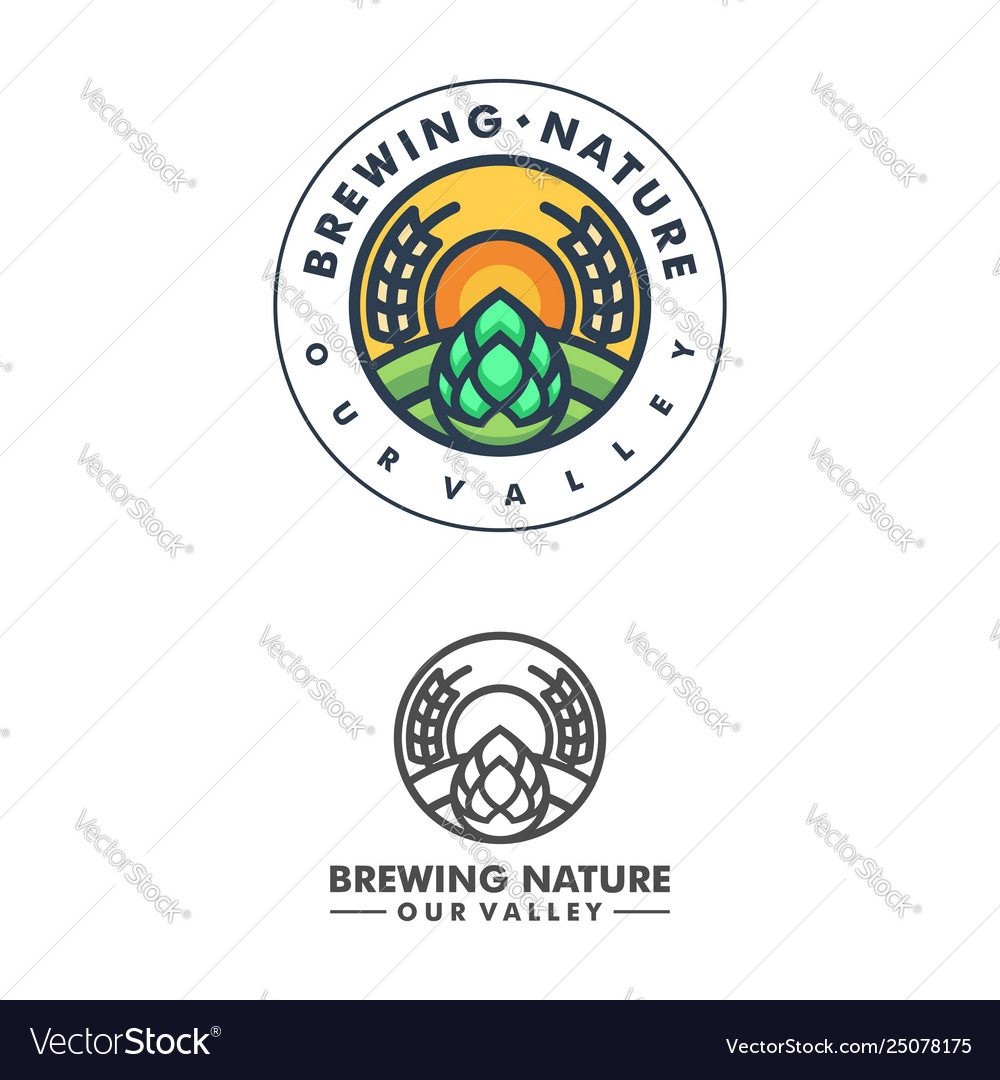 Abstract brewing concept design template
