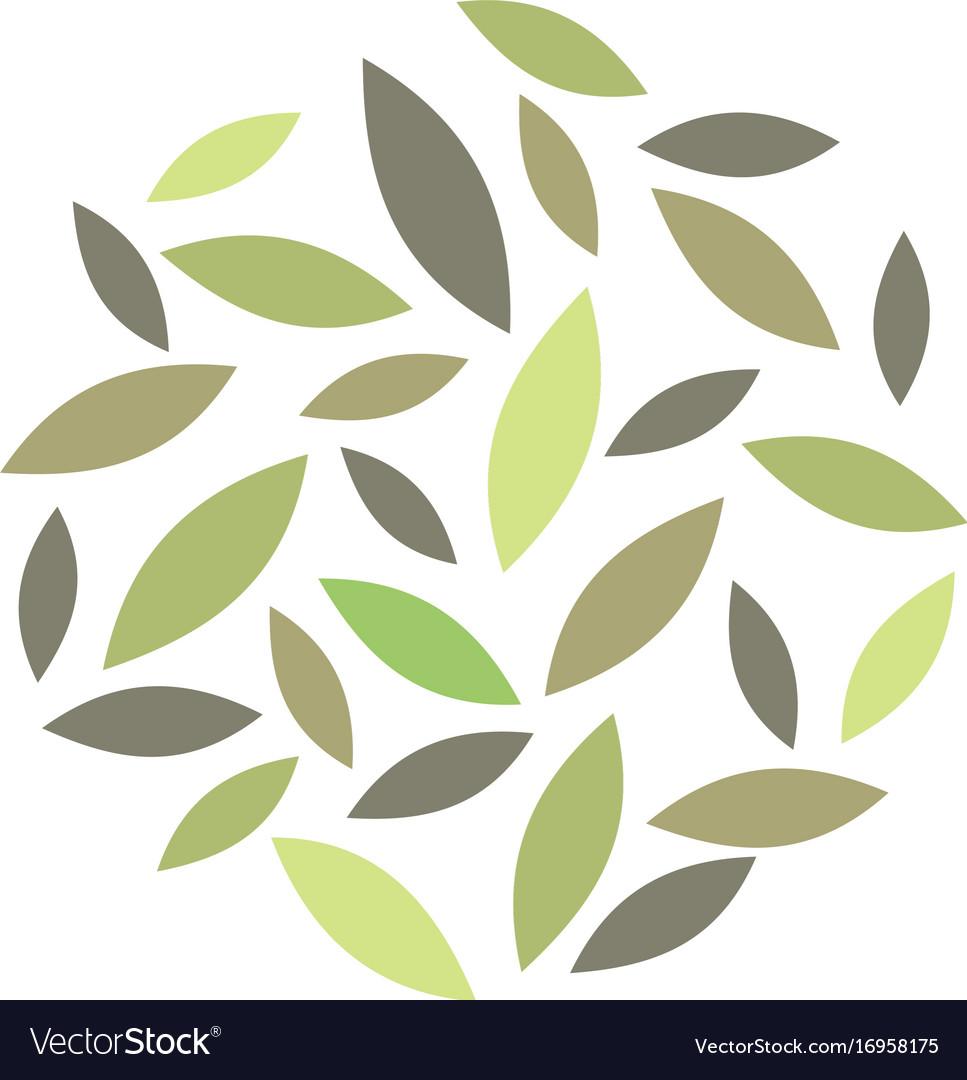 Abstract leaf organic logo