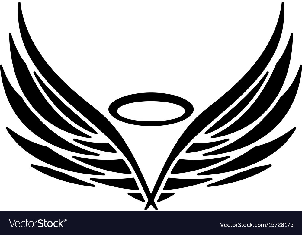 angel wings royalty free vector image vectorstock rh vectorstock com angel wings vector art angel wings vector free download