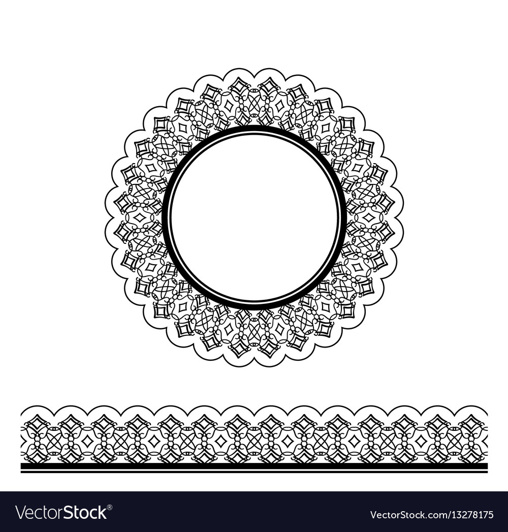 Black decorative border and circle frame
