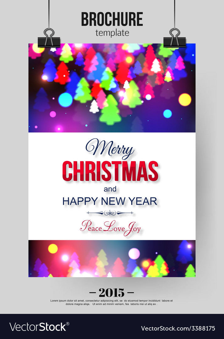 Christmas brochure template Abstract typographical