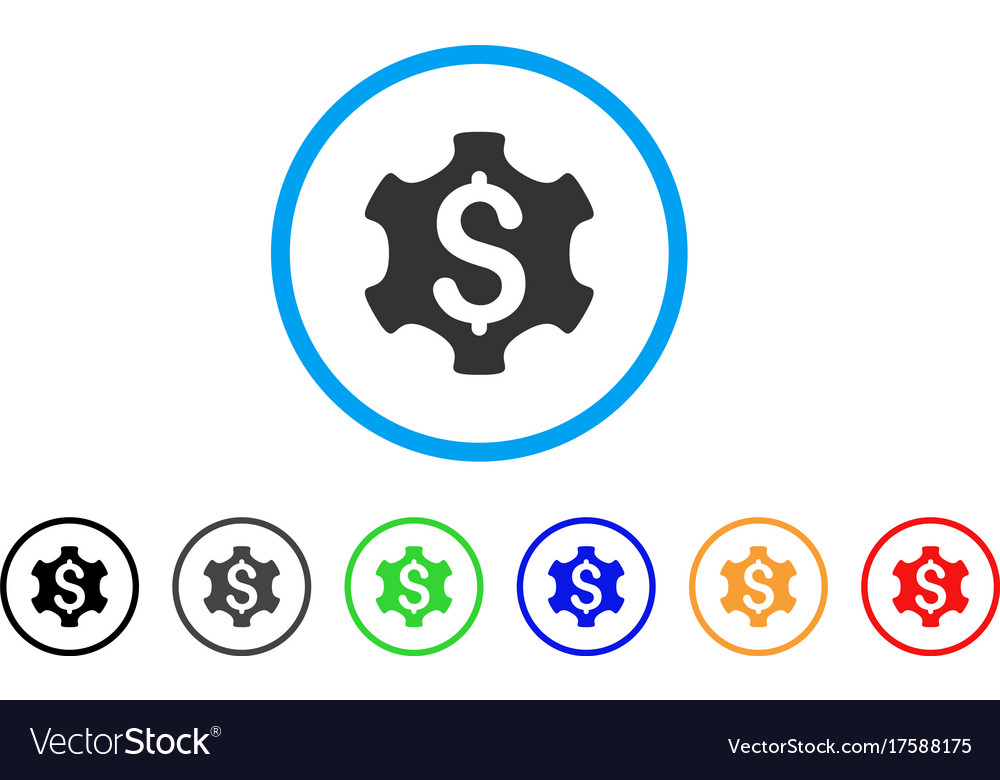 Financial Settings Rounded Icon Royalty Free Vector Image