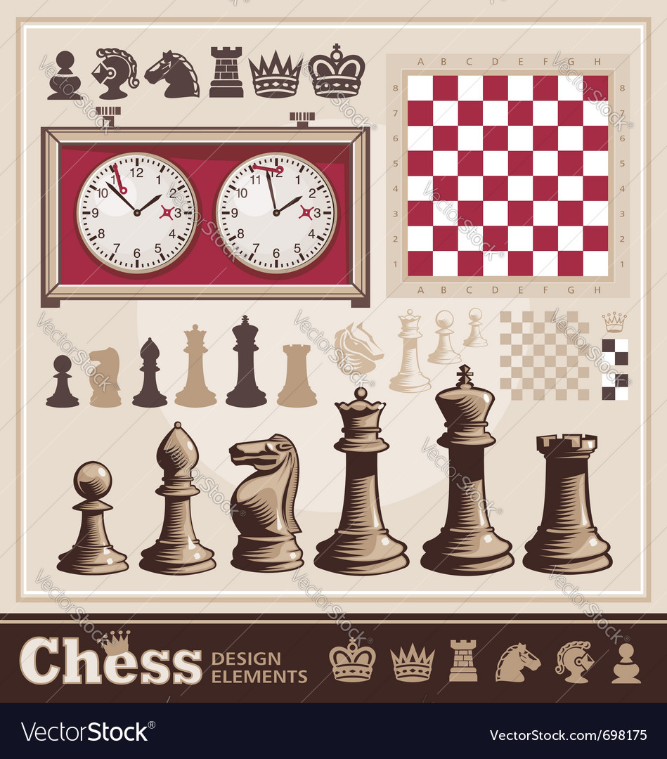 Set of chess design elements