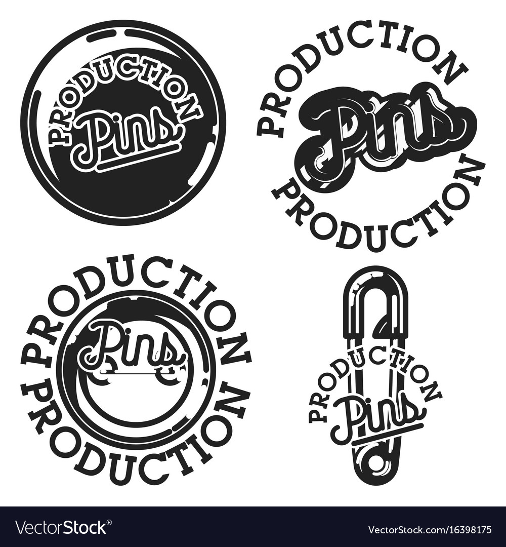 Vintage pins production emblems